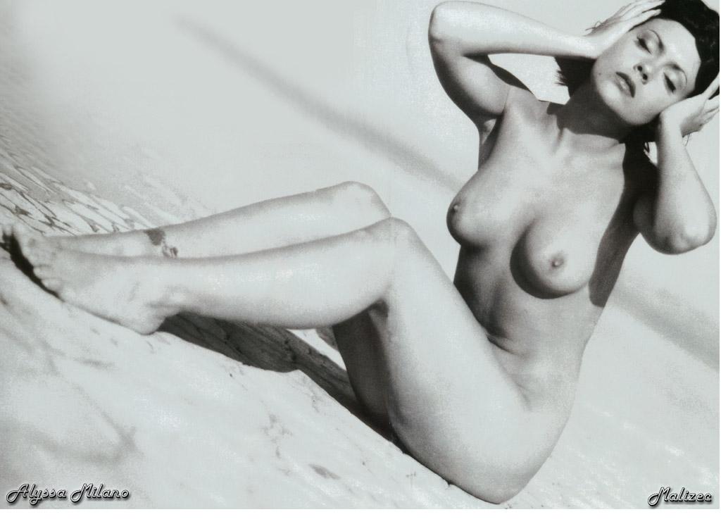 alyssa milano bikini magazine